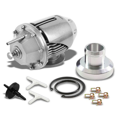 Silver Aluminum Type-2 30 PSI SSQV SQV Blow Off Valve BOV For Turbocharger/Intercooler-Performance-BuildFastCar