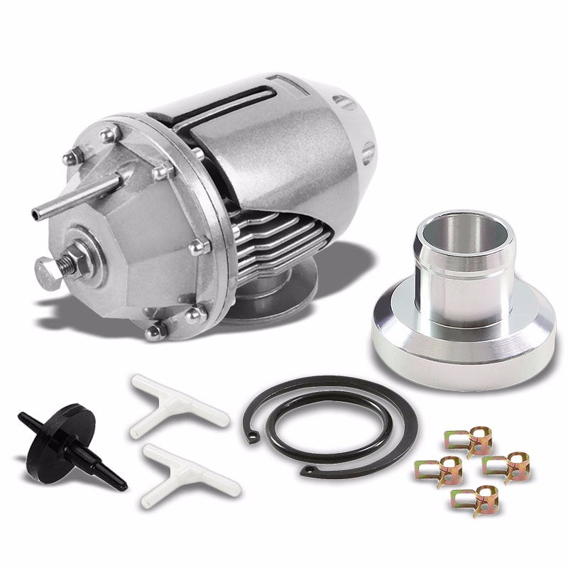 "Silver SSQV/SQV Turbo Adjust 30 PSI Blow Off Valve BOV+6""L/2.5"" OD Flange Pipe-Performance-BuildFastCar"