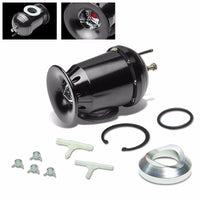 "Black SSQV Aluminum 30PSI Blow Off Valve BOV+Silver 8""L/2.5""OD Dual Port Pipe-Performance-BuildFastCar"