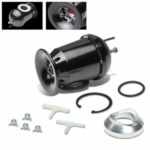 "Black SSQV/SQV Turbo Boost Blow Off Valve BOV TY3+8""L/2.5""OD Dual Port Pipe-Performance-BuildFastCar"