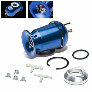"Blue SSQV/SQV Turbo Boost Blow Off Valve BOV TY3+Red 9.5""L/2.5""OD Dual Port Pipe-Performance-BuildFastCar"