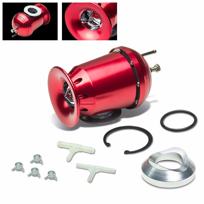 "Red SSQV/SQV Adjust Turbo Blow Off Valve BOV+Black 8""L/80D Flange Adapter Pipe-Performance-BuildFastCar"