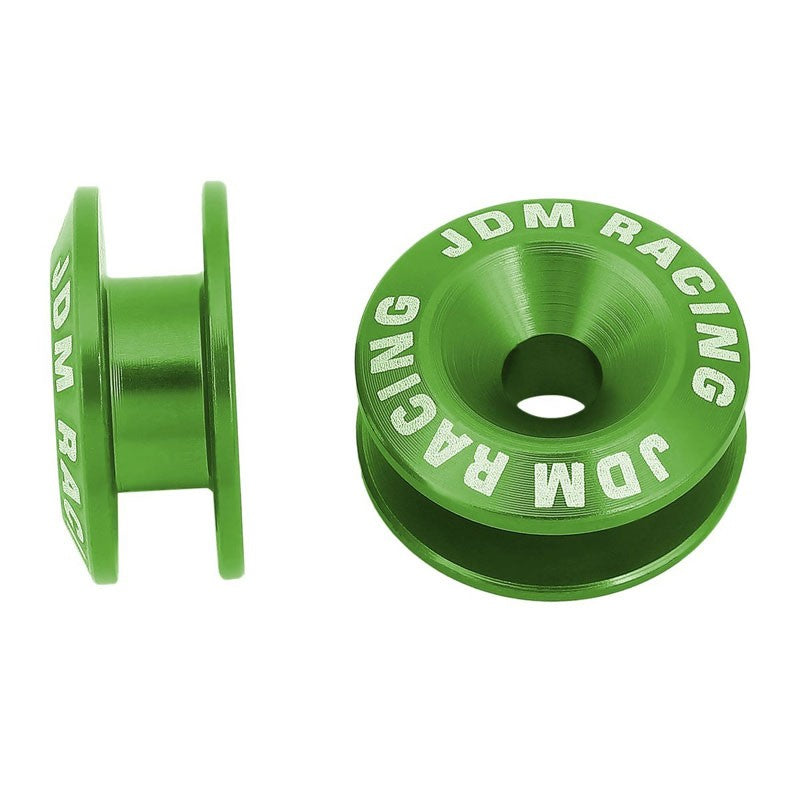 4Pcs Green Rivet Quick Release Fasteners Bolt for Bumper/Fender/Hatch/Lip/Trunk-Exterior-BuildFastCar
