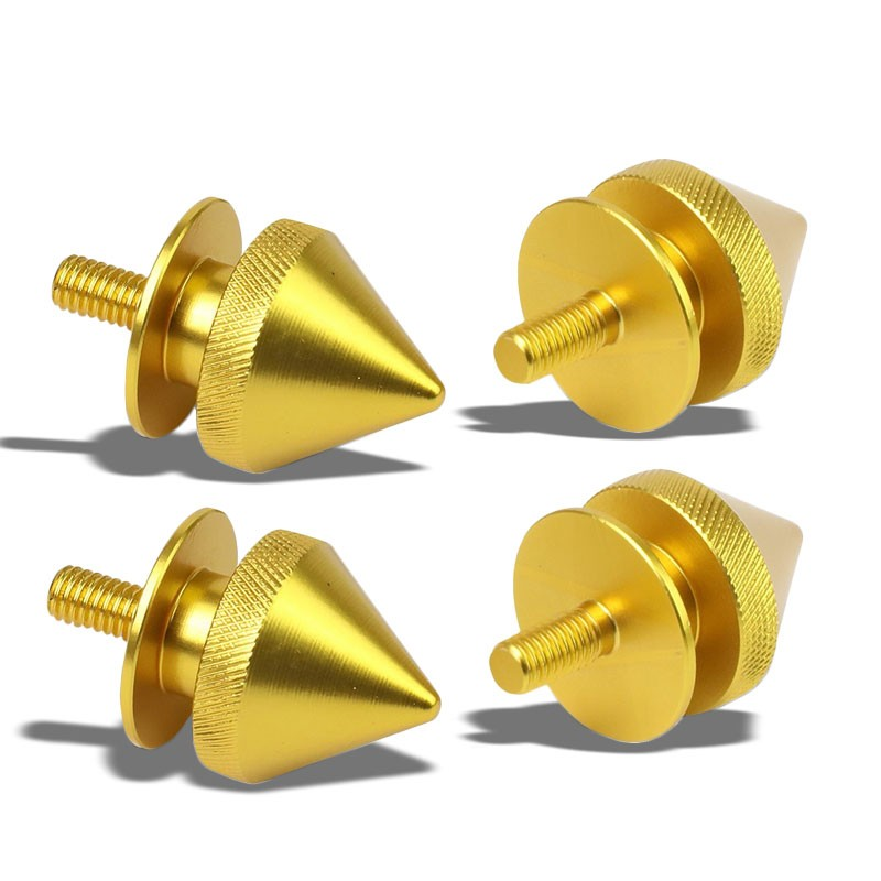 4Pcs Gold Spike Quick Release Fasteners Bolt for Bumper/Fender/Hatch/Lip/Trunk-Exterior-BuildFastCar
