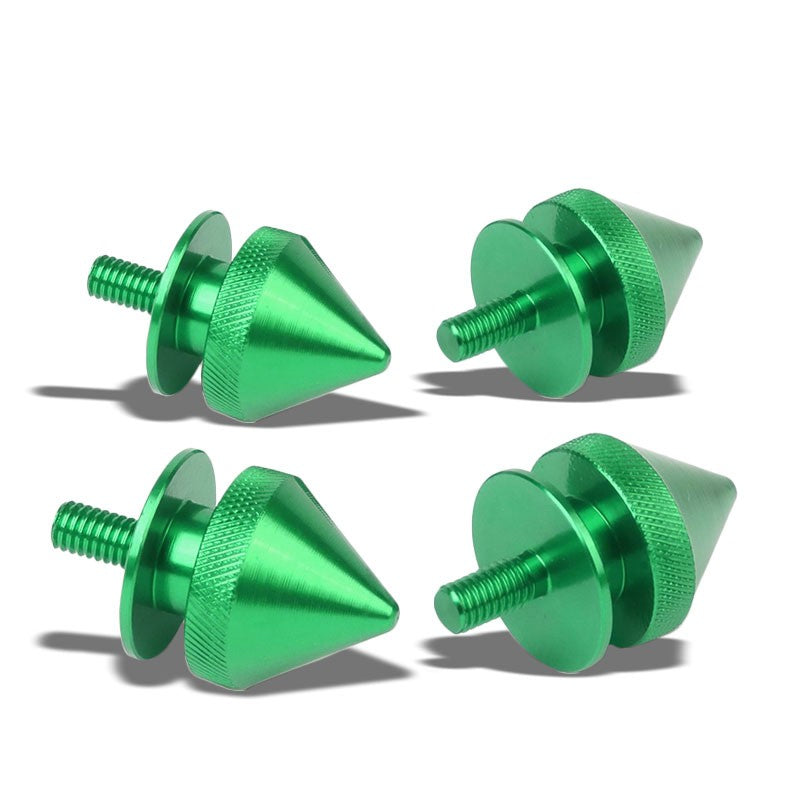 4Pcs Green Spike Quick Release Fasteners Bolt for Bumper/Fender/Hatch/Lip/Trunk-Exterior-BuildFastCar