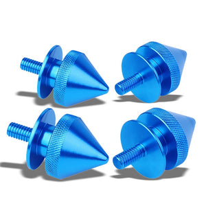 4Pcs Light Blue Spike Quick Fasteners+Bolt+Ring for Bumper/Fender/Hatch/Lip/Trunk-Exterior-BuildFastCar