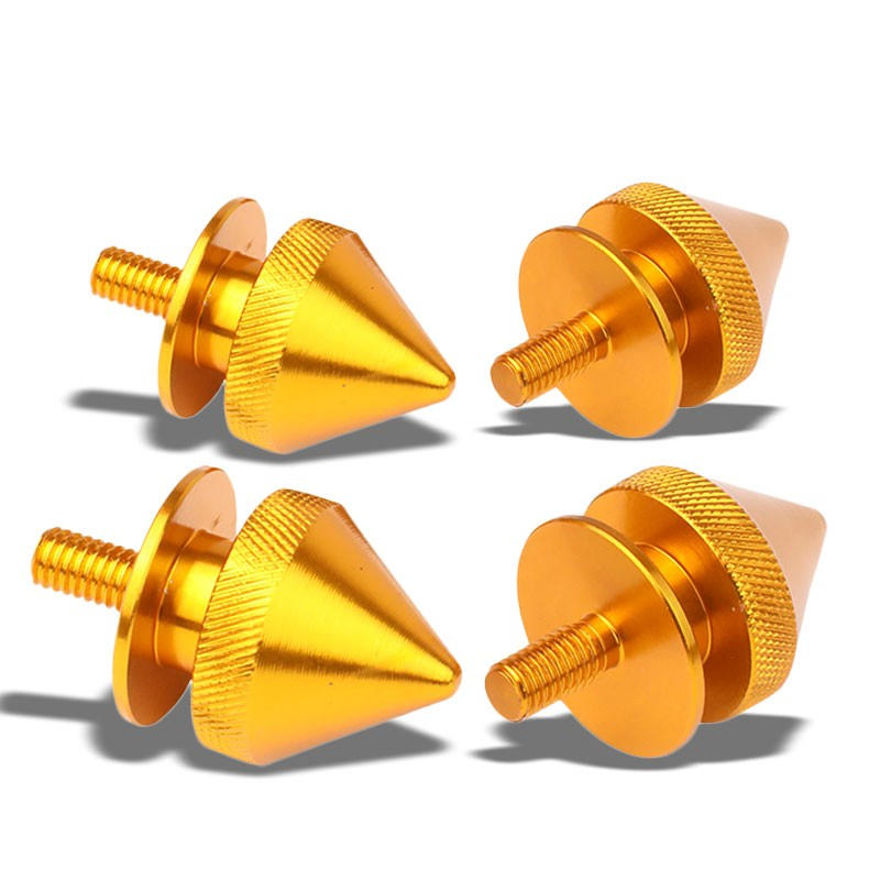 4Pcs Orange Spike Quick Release Fasteners Bolt for Bumper/Fender/Hatch/Lip/Trunk-Exterior-BuildFastCar