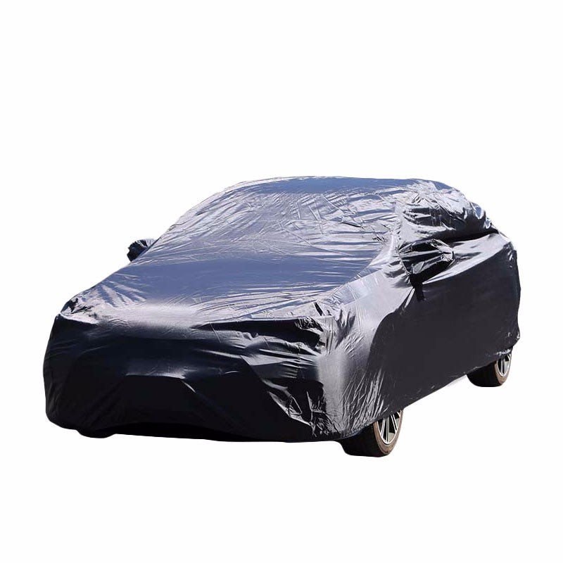 9-Layer Large Black Peva All Weather Resist Breathable In/Out Door Car Cover-Accessories-BuildFastCar