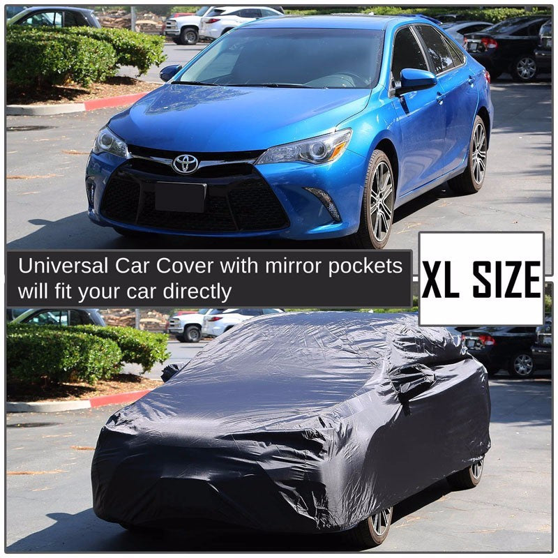 9-Layer Extra Large Black Peva All Weather Resist Breathable In/Out DR Car Cover-Accessories-BuildFastCar