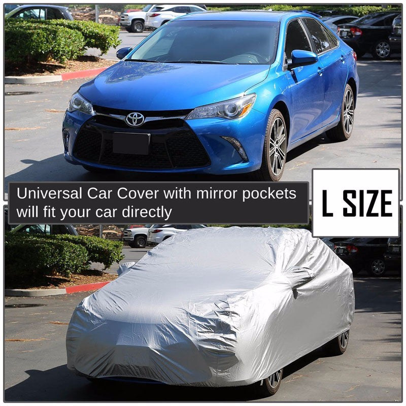9-Layer Large Silver Peva All Weather Resist Breathable In/Out Door Car Cover-Accessories-BuildFastCar