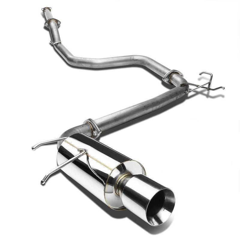 "4"" Roll Muffler Tip Exhaust Catback System For 90-93 Acura Integra 1.7L/1.8L-Performance-BuildFastCar"