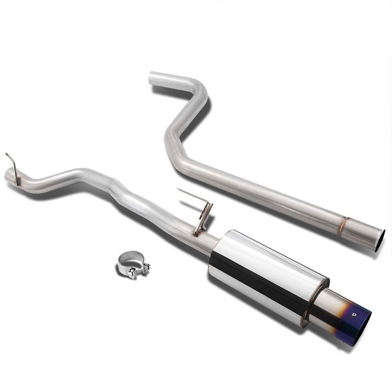 "4"" Round Burnt Muffler Tip Exhaust Catback System For 96-05 Cavalier 2.2L/2.4L-Performance-BuildFastCar"