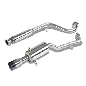 "3.5"" Burnt Muffler Tip Exhaust Catback System For 05-10 Chevrolet Cobalt 2.2L-Performance-BuildFastCar"