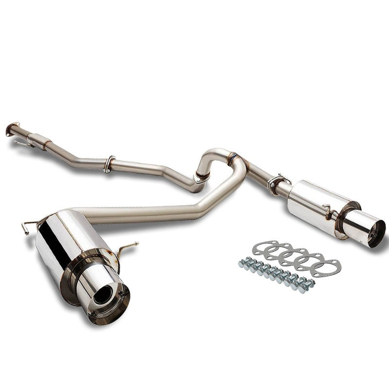 "4"" Dual Slant Muffler Tip Exhaust Catback System For 07-08 Tiburon GK 2.7L V6-Performance-BuildFastCar"