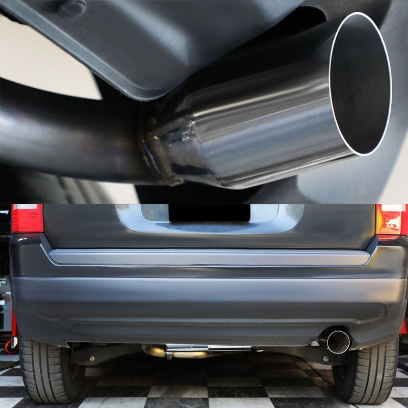 "3.5"" Round Muffler Tip Exhaust Catback System For 07-13 Jeep Patriot MK74 2.4L-Performance-BuildFastCar"