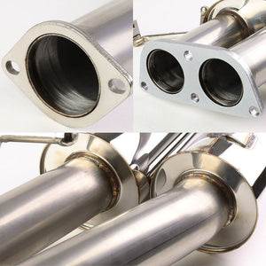 "3.5"" Dual Muffler Tip Exhaust Catback System For 89-94 Nissan 240SX S13 Silvia-Performance-BuildFastCar"