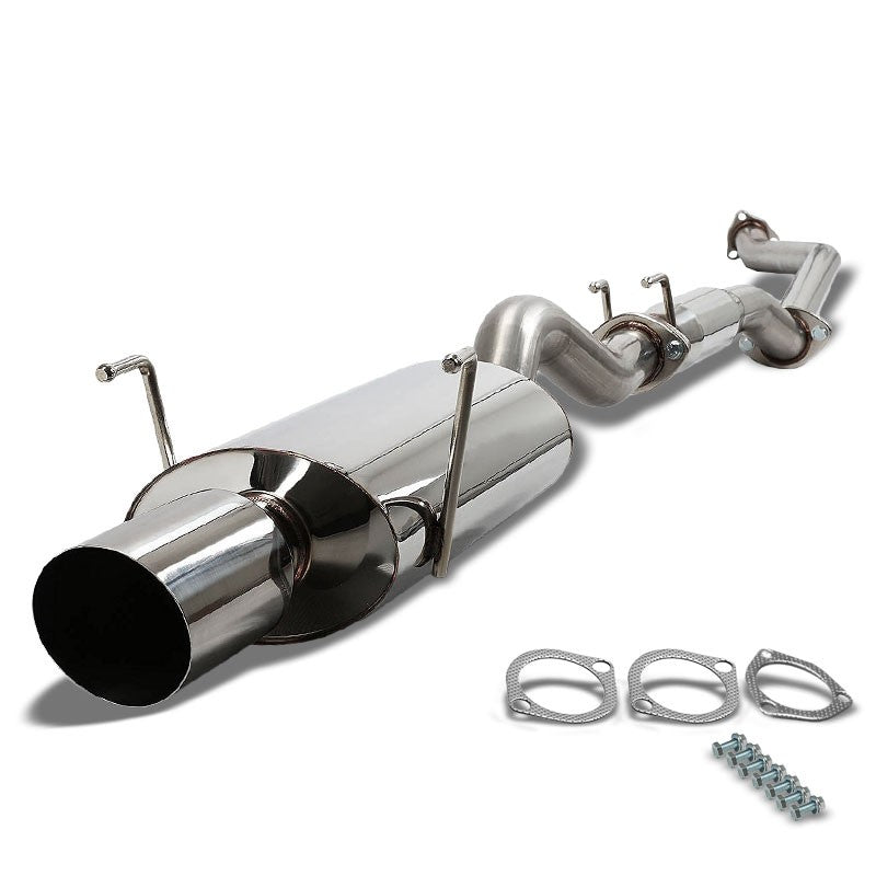"4"" Oval Muffler Tip Exhaust Catback System For 02-06 Acura RSX Type-S 2.0L DOHC-Performance-BuildFastCar"