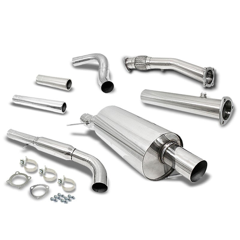 "3"" Round Muffler Tip Exhaust Catback System For 99-05 Volkswagen Golf 1.8T MK4-Performance-BuildFastCar"