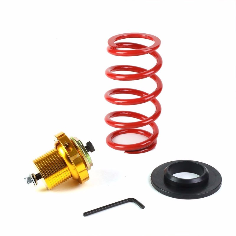 "Front/Rear 1""-4"" Adjust Red Suspension Lowering Spring+Perch For 06-11 Civic-Suspension-BuildFastCar"