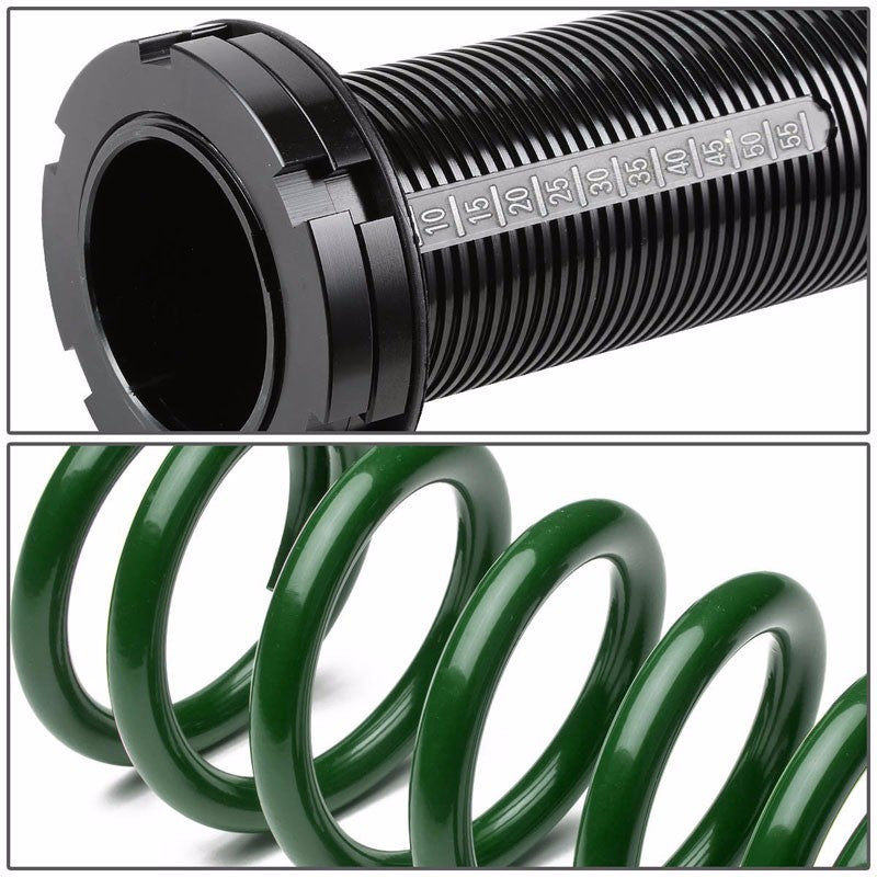 Front/Rear Scaled Black Coilover Green Lowering Spring Kit For 88-00 Civic EG/EJ-Suspension-BuildFastCar