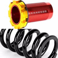 Front/Rear Red Scaled Black Coilover Lowering Spring For 88-91 Civic/88-97 CR-X/90-01 Integra-Suspension-BuildFastCar