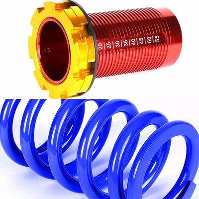 DNA Black Shock Absorbers+Red/Blue Adjustable Coilover For Honda 96-00 Civic-Shocks & Springs-BuildFastCar