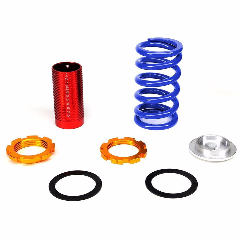 Front/Rear Red Scaled Blue Coilover Lowering Spring For 88-91 Civic/88-97 CR-X/90-01 Integra-Suspension-BuildFastCar