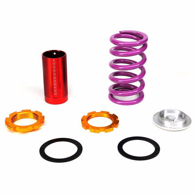 DNA Black Shock Absorber+Red/Purple Adjustable Coilover For Honda 92-95 Civic-Shocks & Springs-BuildFastCar
