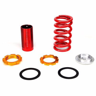 DNA Silver Gas Shock Absorber+Red/Red Adjustable Coilover For Honda 92-95 Civic-Shocks & Springs-BuildFastCar