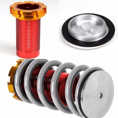 DNA Red Gas Shock Absorber+Red/Silver Adjustable Coilover For Honda 92-95 Civic-Shocks & Springs-BuildFastCar