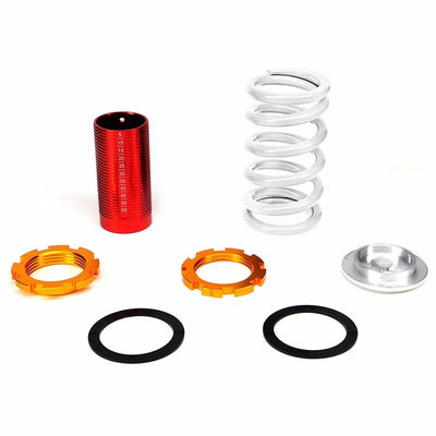 DNA Red Shock Absorbers+Red Coilover white Lowering Spring For 88-91 Civic/CRX-Shocks & Springs-BuildFastCar