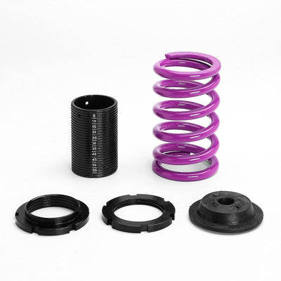 Red Gas Shock Struts+Scaled Sleeve Purple Lowering Spring T44 For 92-95 Civic-Shocks & Springs-BuildFastCar