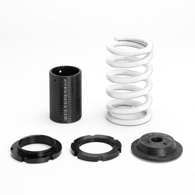 Black Gas Shock Absorber Struts+Scaled White Coilover Spring T44 For 92-95 Civic-Shocks & Springs-BuildFastCar