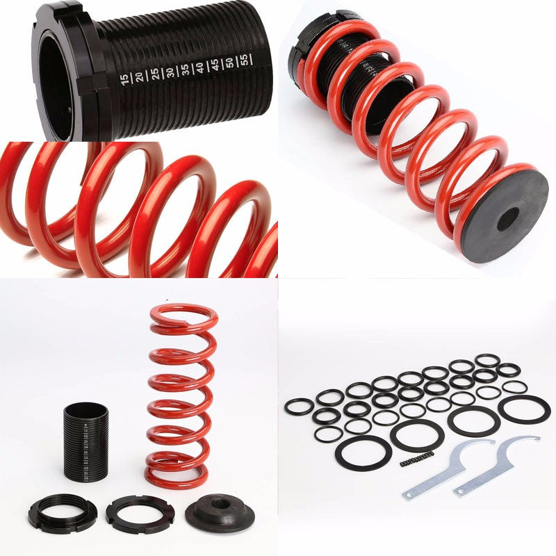 Front/Rear Scaled Black Coilover Red Lowering Spring For 93-97 Altima U13 2.4L-Suspension-BuildFastCar