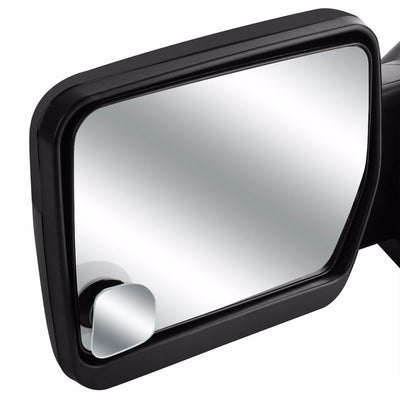 2x Round Edge Square Swivel Wide Angle Convex Safety Rear Blind Spot Side Mirror-Exterior-BuildFastCar