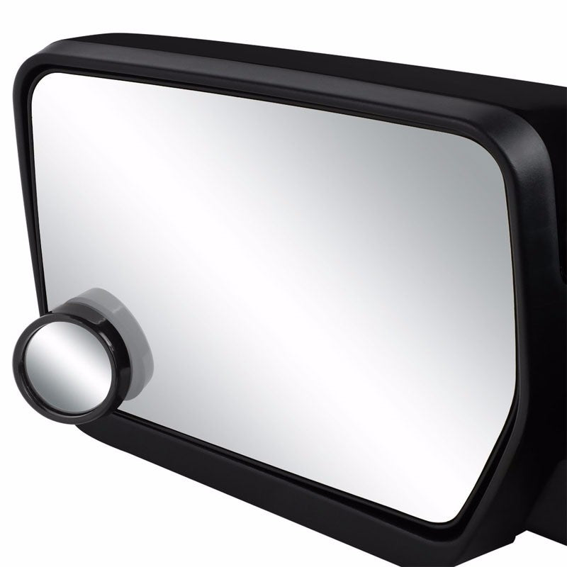 2x Circle Black Bezel Swivel Car/SUV Wide Angle Rear View Blind Spot Side Mirror-Exterior-BuildFastCar
