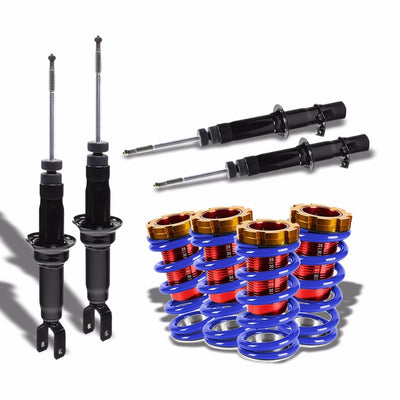 DNA Black Shock Absorbers+Red/Blue Adjustable Coilover For Honda 96-00 Civic