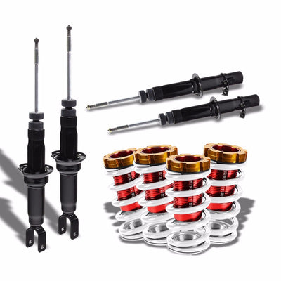 DNA Black Shock Absorbers+Red/White Adjustable Coilover For Honda 96-00 Civic