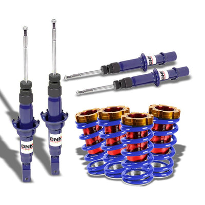 DNA Blue Shock Absorbers+Red/Blue Adjustable Coilover For Honda 96-00 Civic