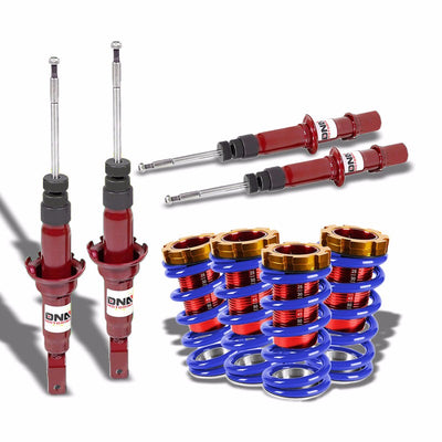 DNA Red Shock Absorbers+Red/Blue Adjustable Coilover Kit For Honda 96-00 Civic