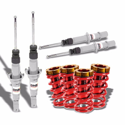 DNA White Shock Absorbers+Red/Red Adjustable Coilover Kit For Honda 96-00 Civic