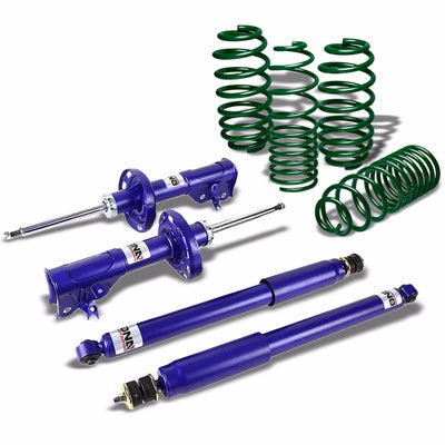 DNA Blue Gas Shocks Absorber+Green Lowering Spring Kit For 06-11 Civic FG/FA/FD