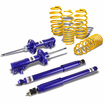 DNA Blue Gas Shocks Absorber+Yellow Lowering Spring Kit For 06-11 Civic FG/FA/FD