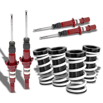 Red Shock Absorber Struts+Adjust White Coilover Suspension T44 For 96-00 Civic