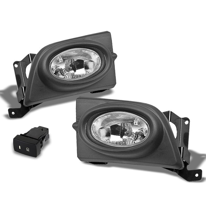 Clear Lens Housing Driving/Bumper Fog Light+Wiring For Honda 06-08 Civic Sedan-Exterior-BuildFastCar