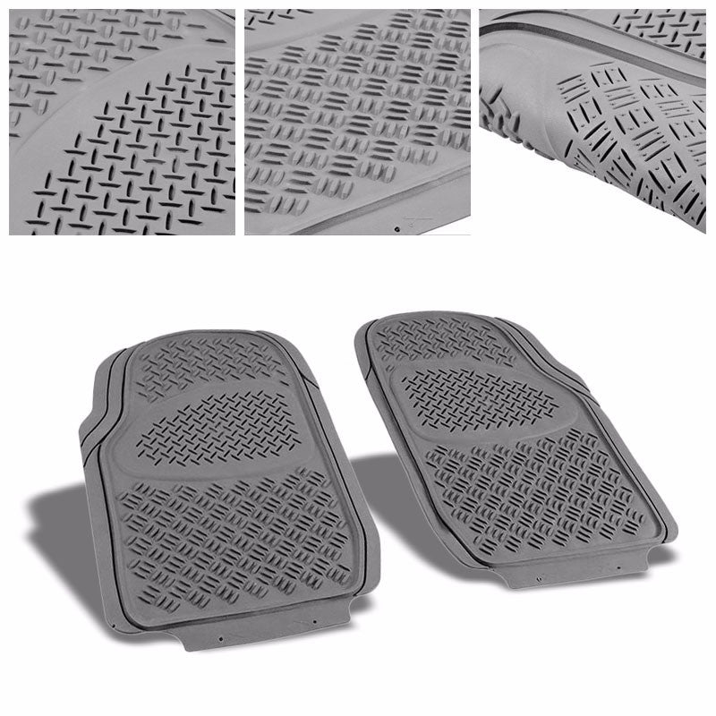 Universal Gray ABS Heavy Duty All Weather/Season Front Seat 3D Floor Mats-Interior-BuildFastCar