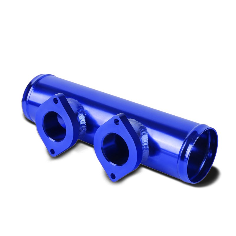 "Type-S 30PSI Turbo Blow Off Valve BOV+9"" Long Flange Dual Port Pipe Purple/Blue-Performance-BuildFastCar"