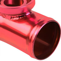Purple SSQV Anodized Turbo Blow Off Valve TYA2+Red Curve BOV Flange Adapter Pipe-Performance-BuildFastCar