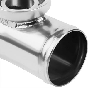 "Black Aluminum SSQV/SQV Blow Off Valve BOV A2+Silver 8""L/80D/2.5""OD Flange Pipe-Performance-BuildFastCar"