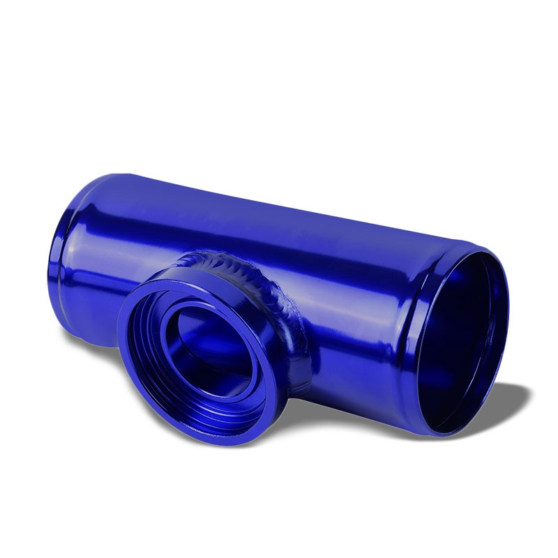 Purple Aluminum SSQV/SQV Blow Off Valve BOV A2+Blue Straight Flange Adapter Pipe-Performance-BuildFastCar